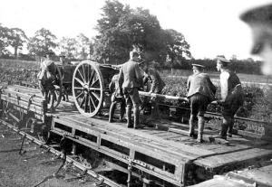 Howitzer Battery GCR station 11 Aug 1914 2