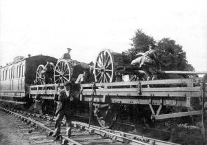 Howitzer Battery GCR station 11 Aug 1914