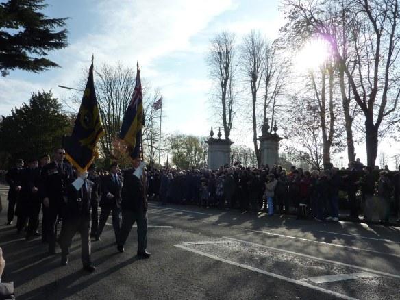 British Legion Flags on parade