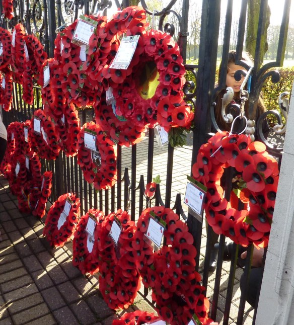 Some of the wreaths on the Gates