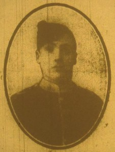 Picture of George William Webb from Rugby Advertiser 1st May 1915