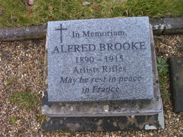 Memorial to Alfred Brooke in Clifton Road Cemetery