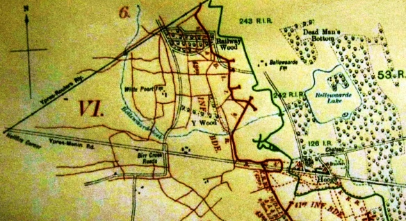Bellewaarde Farm - Hooge map