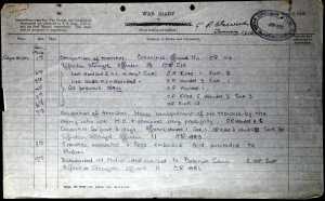 A W Johnson war diary