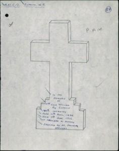 Design for cross on grave of W R Elphick (cwgc website)