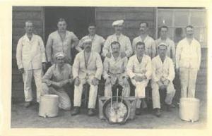 John Glenn, back row middle. In France 1914-18 War