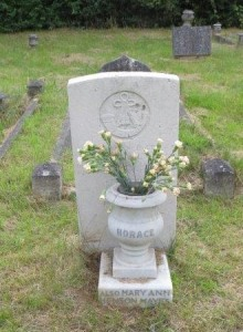 Grave of Horace Mayes in Clifton Road Cemetery.