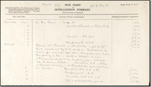War Diary, 16th Royal Warwickshire Rgiment