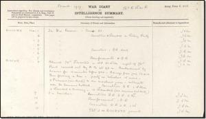War Diary, 16th Royal Warwickshire Rgiment